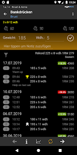 GymACE Pro: Optimiere dein Gym Workout Screenshot
