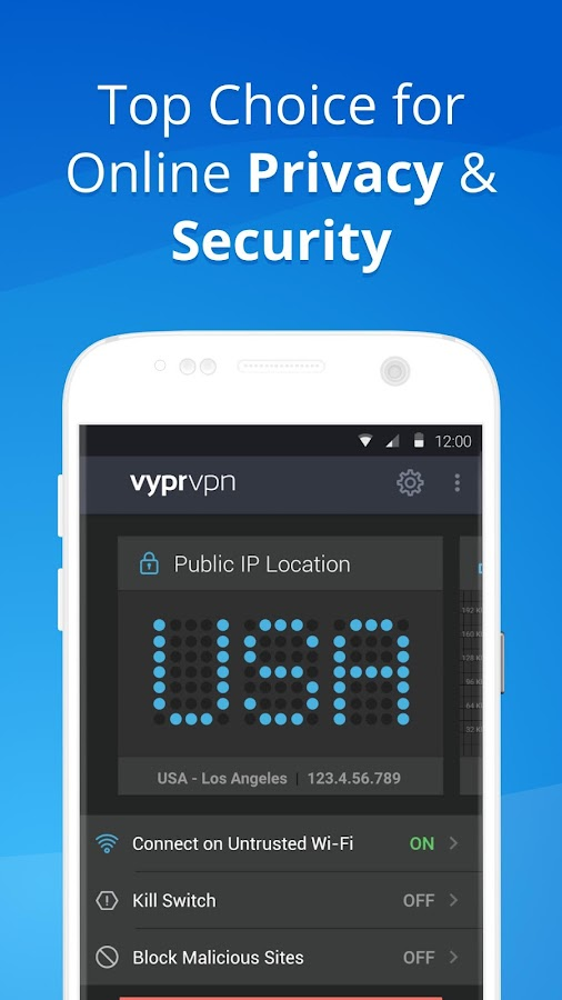 VPN - Fast, Secure & Unlimited WiFi with VyprVPN – скриншот