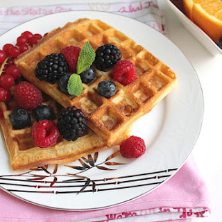 Orange Waffles – Low calorie.