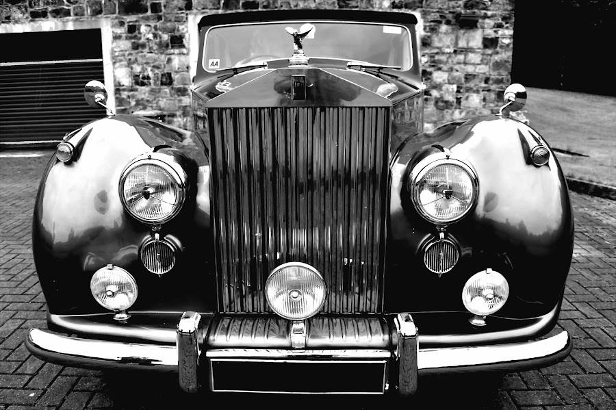 Vintage by Claude Huguenin - Transportation Automobiles ( car, unique, black and white, vintage, colector )