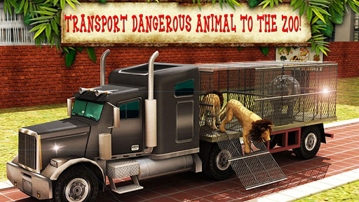 Transport Truck Zoo Animals 3D
