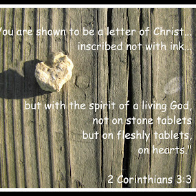 2 Corinthians 3:3 by Robert George - Typography Quotes & Sentences (  )