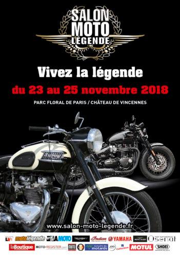 Affiche salon Moto Légende 2018