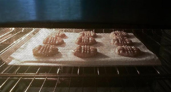 BAKING: Place cookies in the preheat oven and bake the cookies until lightly golden,...