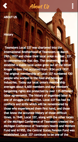Teamsters Local 337- screenshot