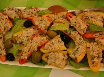 Stuffed sweet peppers appetizer/salad