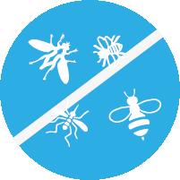Icon: Weniger Mückenhaftung