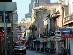 Photo: Bourbon Street le jour, c'était plus anmié hier soir !