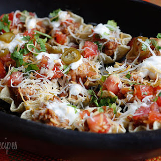 Skinny Loaded Nachos with Turkey, Beans and Cheese Recipe