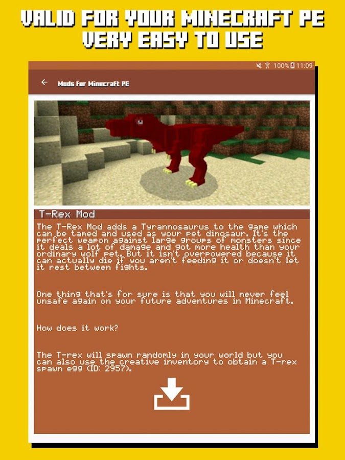 Mods for Minecraft PE- screenshot