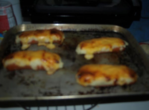 Put in preheated oven. Cook until cheese is bubbly.