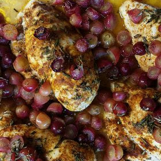Baked Chicken Breasts with Roasted Grapes Recipe