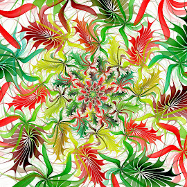 Christmas Leaves by Peggi Wolfe - Illustration Abstract & Patterns ( digital, fractal, abstract )