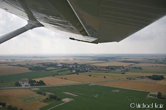 Photo: Rett etter take-off fra Randers Flyveplads på vei til Aarhus Lufthavn for å tanke.