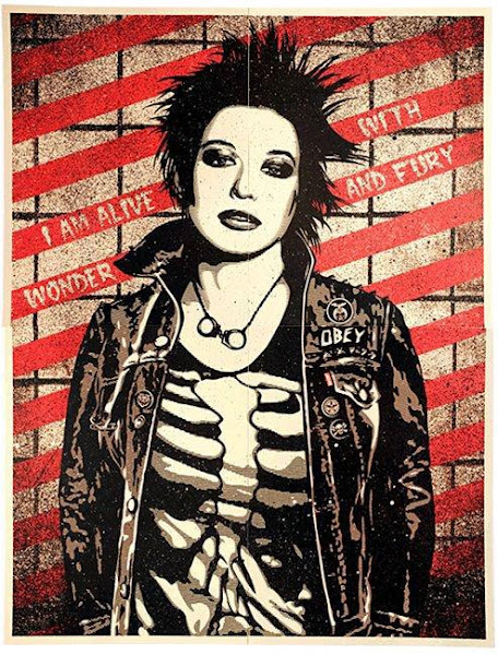 Photo: Win this original silk-screened poster created by acclaimed street artist Shepard Fairey for Levi's®. And signed by the artist himself!  Make your bid > http://www.ebay.com/itm/Levis-Obey-Punk-Girl-Shepard-Fairey-Poster-38-x52-Screenprint-LE-Signed-Auto-/120921262014?pt=Art_Posters&hash=item1c277807be#ht_500wt_1413