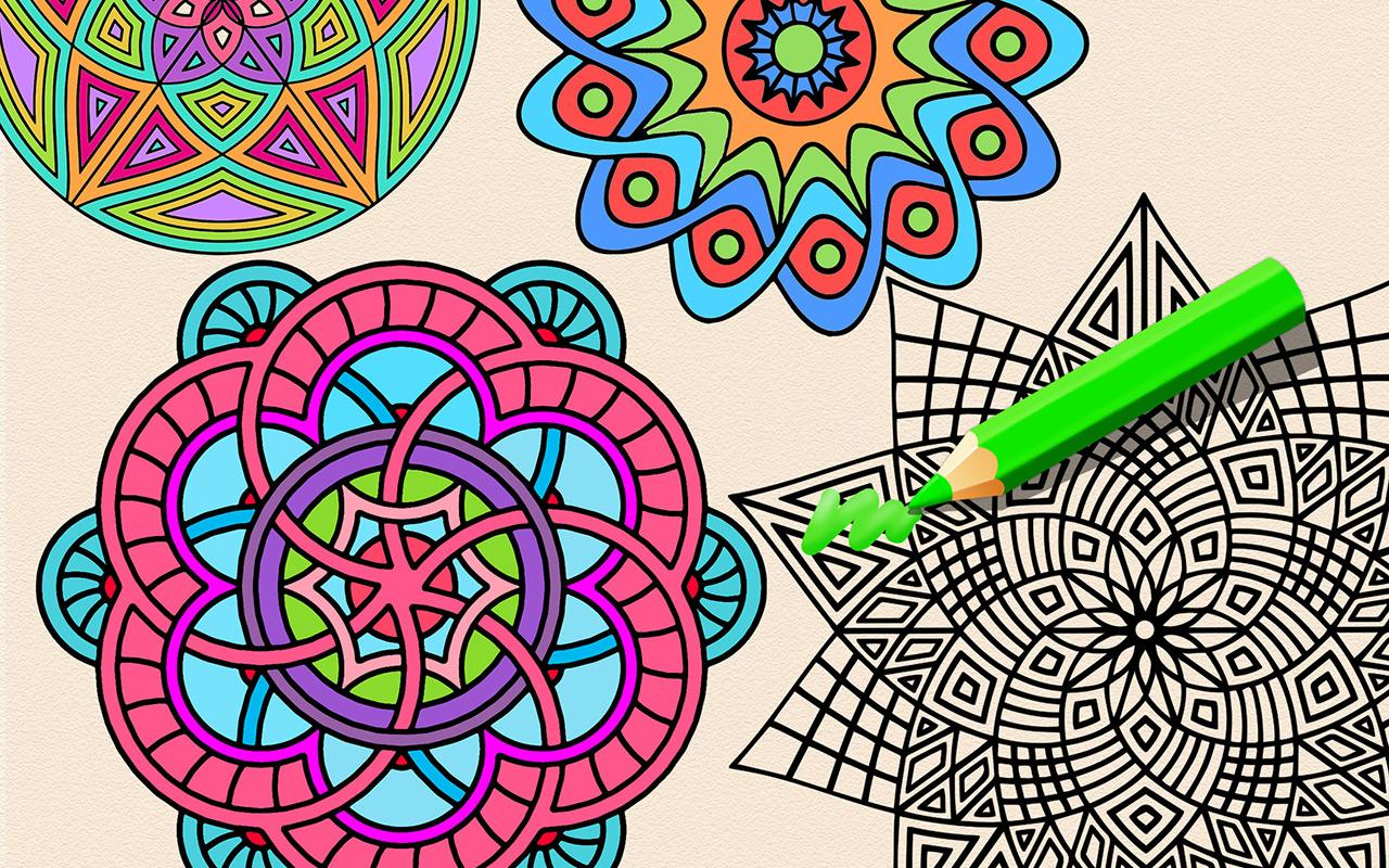 The wallpaper coloring book - Colorfever Coloring Book Screenshot