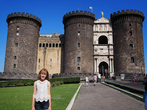 Photo: Castle in Napoli. Had a moat too! Now a museum and government offices.