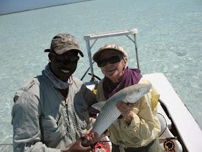 Photo: Sandy Heinz with guide Chris Leadon