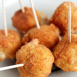 Spicy Fried cheese balls appetizer.