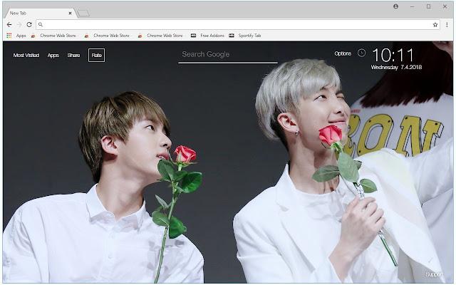 Rm Jin Bts Hd Wallpapers Namjin New Tab