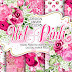 Watercolor HOT PINK digital paper pack Free Download