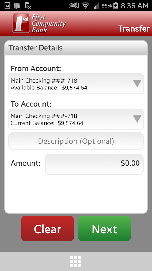FCB Mobile Banking- screenshot
