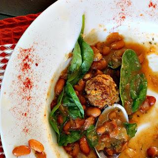 Chorizo Albondigas White Bean Soup