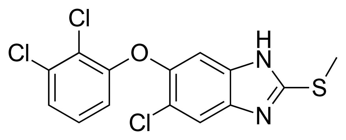 Công thức phân tử của Triclabendazole