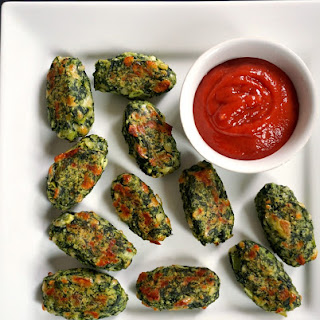 Healthy Baked Brussels Sprout Cheese Spinach Bites Recipe