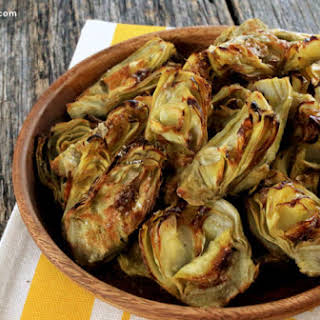 Roasted Artichoke Hearts.