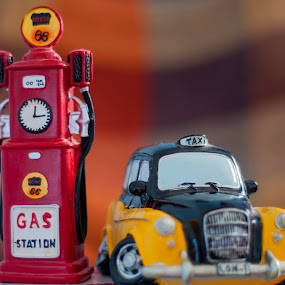 Taxi by Yasser Abusen - Artistic Objects Toys ( taxi, red, yellow )