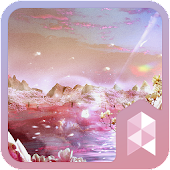 Pink lake Launcher theme