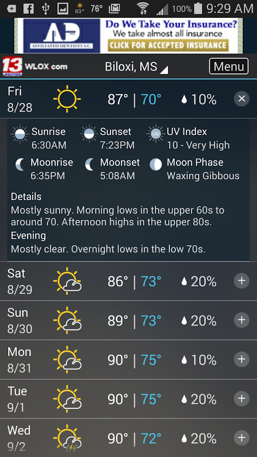 WLOX 24/7 Weather- screenshot