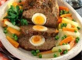 Hackbraten Mit Ei (meatloaf With Egg) Recipe