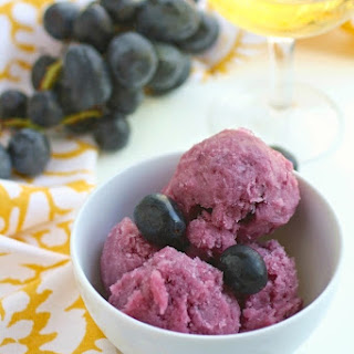 Black Grape & Sparkling Wine Sorbet
