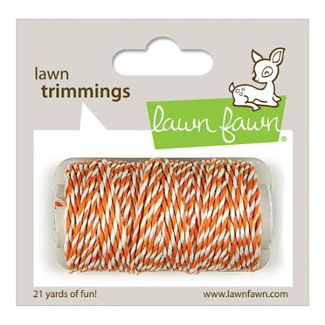 Lawn Fawn Trimmings Hemp Cord 21yd - Tangerine