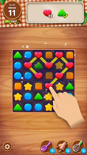 Cookie Crunch: Link Match Puzzle fond d'écran 1