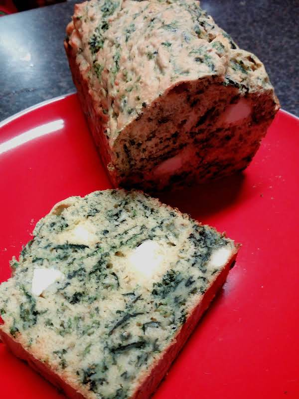 Spinach And Feta Lunch Loaf. Serve With Butter Or Creamed Cheese.