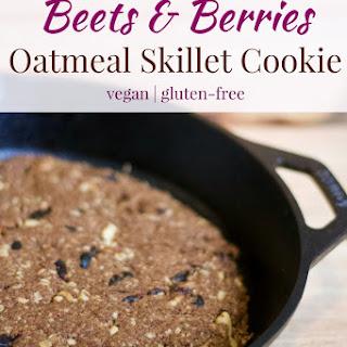 Beets & Berries Oatmeal Skillet Cookie.