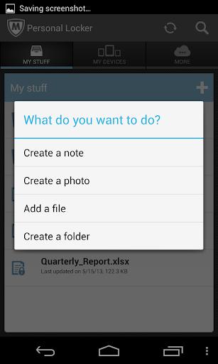 McAfee Personal Locker screenshot 3