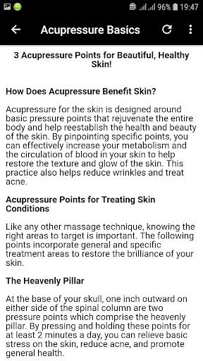 Basics of Acupressure Massage App Report on Mobile Action - App