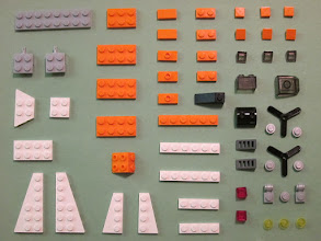 Photo: This is a collection of 50 designs made with about 50 pieces.  Well, 58, actually, but many of them are very small, as you can see.  The challenge was to demonstrate the expressive power of a very limited but versatile toolkit.