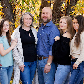 J's Joys by Roberta Lott-Holmes - People Family ( fall colors, silent expressions, blended family, family, portrait, colorado,  )