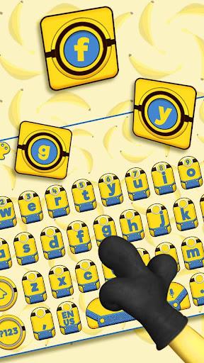 Yellow Cartoon Keyboard Theme (FREE) 10001001 screenshots 2