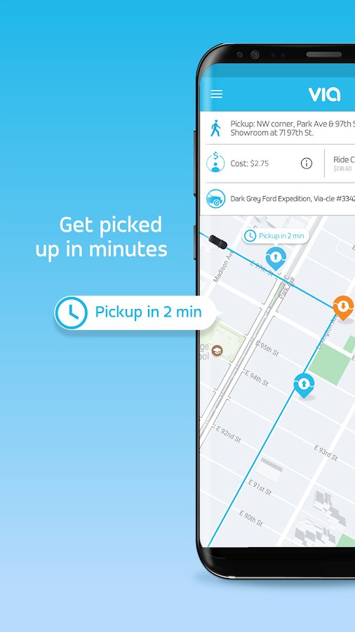 Via - Affordable Ride-sharing- screenshot