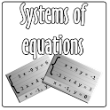 System of equations icon