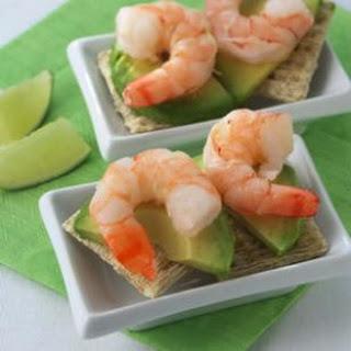 Shrimp & Avocado Canapes.