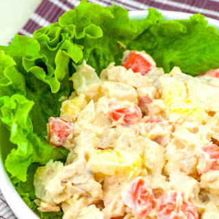 Potato Salad with Carrots and Pineapple.