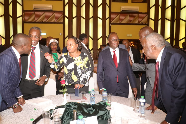 Some of the pro-Uhuru politicians from Mt Kenya region during the dinner at Safari Park Hotel on February 25, 2020.