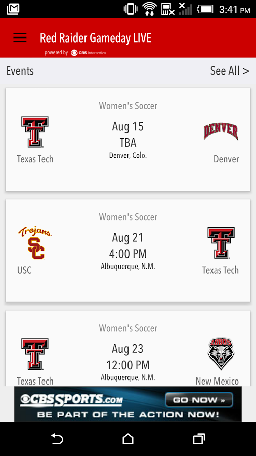 Red Raider Gameday LIVE- screenshot